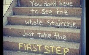 Transformatie begint met de eerste stap