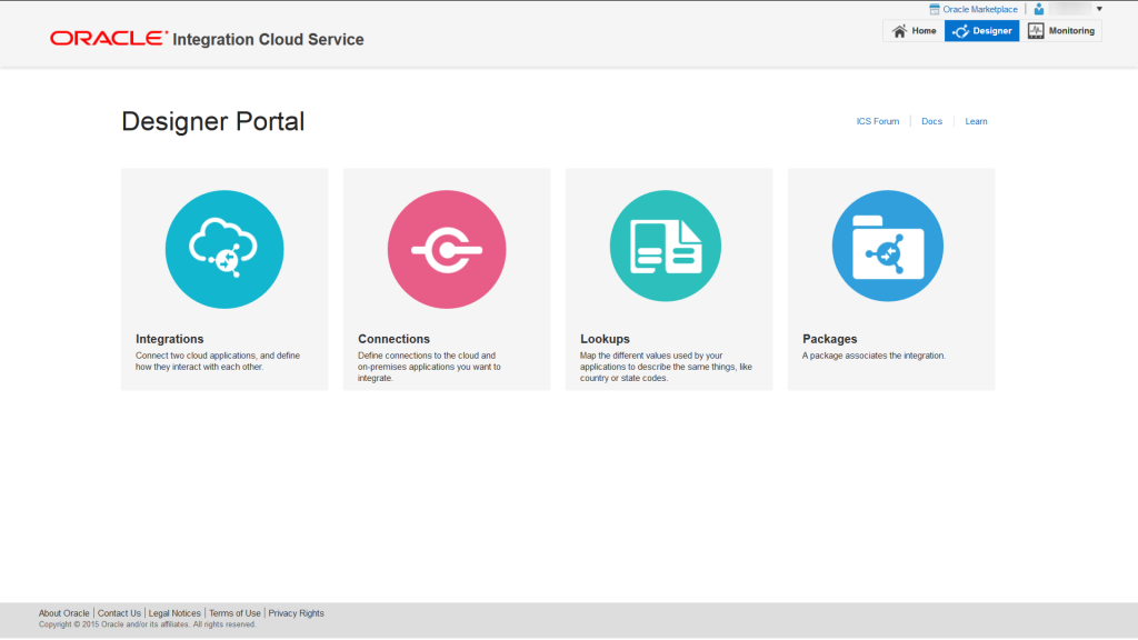 Designer Portal Page