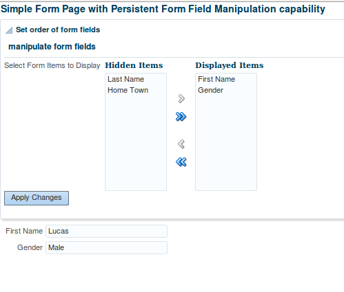 ADF 12c – Allow user to personalize the form items at run time using MDS based Change Persistence