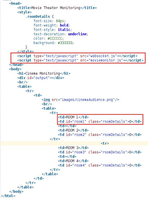 Java Web Application sending JSON messages through WebSocket to