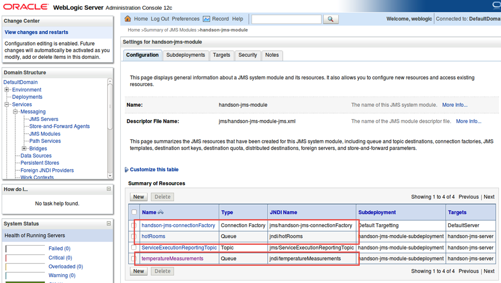 Interacting with JMS Queue and Topic from Java SE