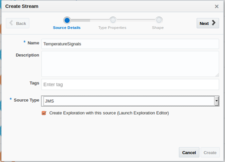 Stream Explorer and JMS for both inbound and outbound interaction
