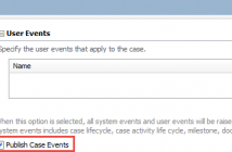 The Publish Case Events feature