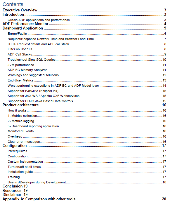 Contents ADF Performance Monitor Whitepaper