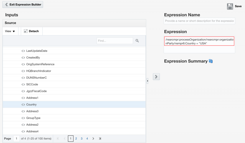 Integration Cloud Service - Content-based Filter expression