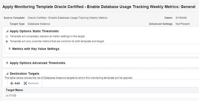 Usage Tracking Reports, using Oracle Enterprise Manager 13C
