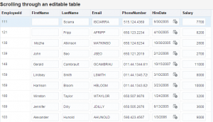 ADF editable table navigation