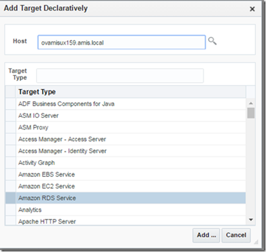 Connect Oracle Enterprise Manager 13 to Amazon's Cloudwatch - AMIS