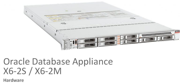 Oracle Database Appliance X6-2S and X6-2M, filling the gap