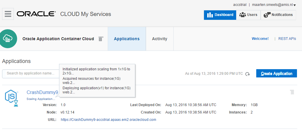 Application Container Cloud: Node js hosting with enterprise-grade