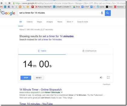 use google search to set a timer