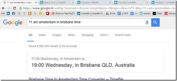 use google search to convert timezones