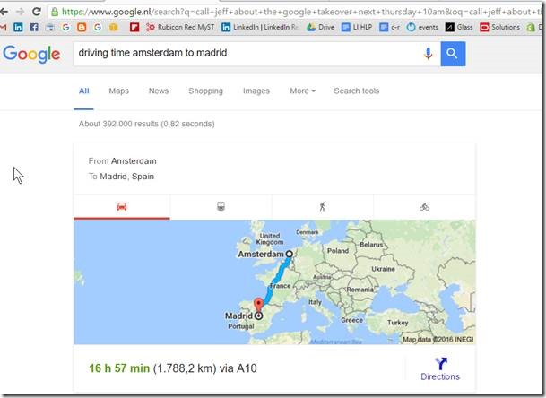 use google search to calculate distance