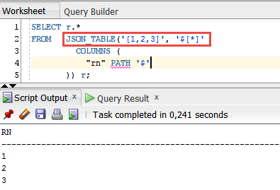 Next Step in Row generation in Oracle Database 12c SQL using JSON_TABLE