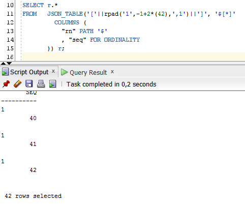 Next Step in Row generation in Oracle Database 12c SQL using
