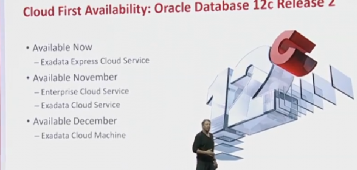 The state of the flagship as per Oracle OpenWorld 2016