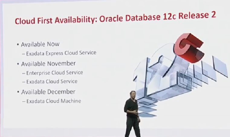 The state of the flagship as per Oracle OpenWorld 2016 – Oracle Database 12c Release 2, Exadata Express Cloud Service, SQL and PL/SQL