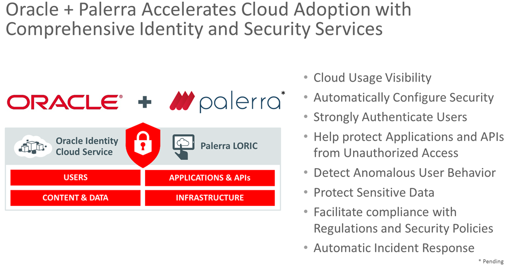 Just launched: the Oracle Identity Cloud Service - for