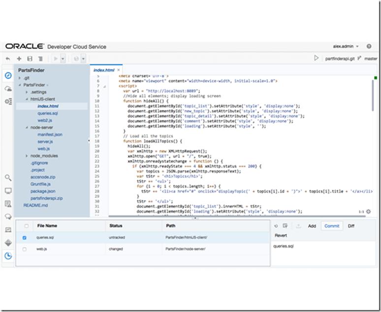 Oracle Developer Cloud Service - cloud based agile development