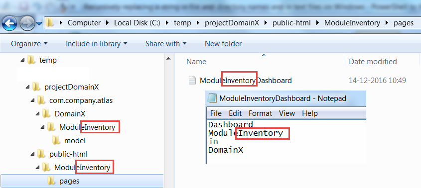 Recursively replacing a string in file and directory names