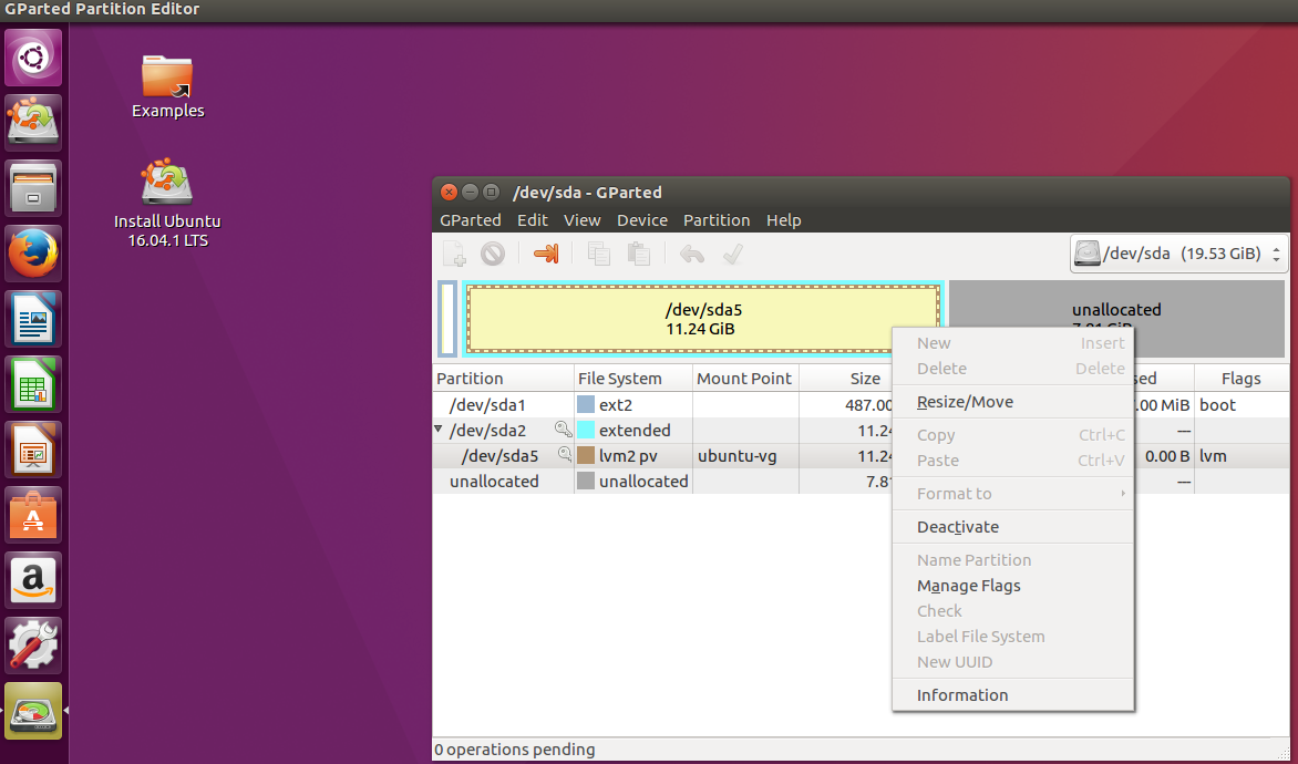 Ubuntu VM in VirtualBox: How to increase the size of a disk