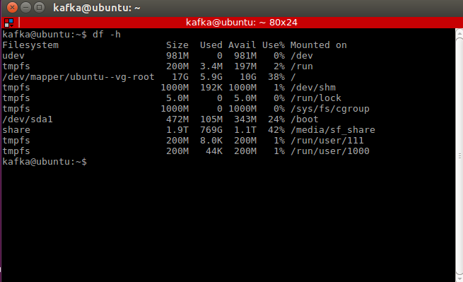 Ubuntu VM in VirtualBox: How to increase the size of a disk and make