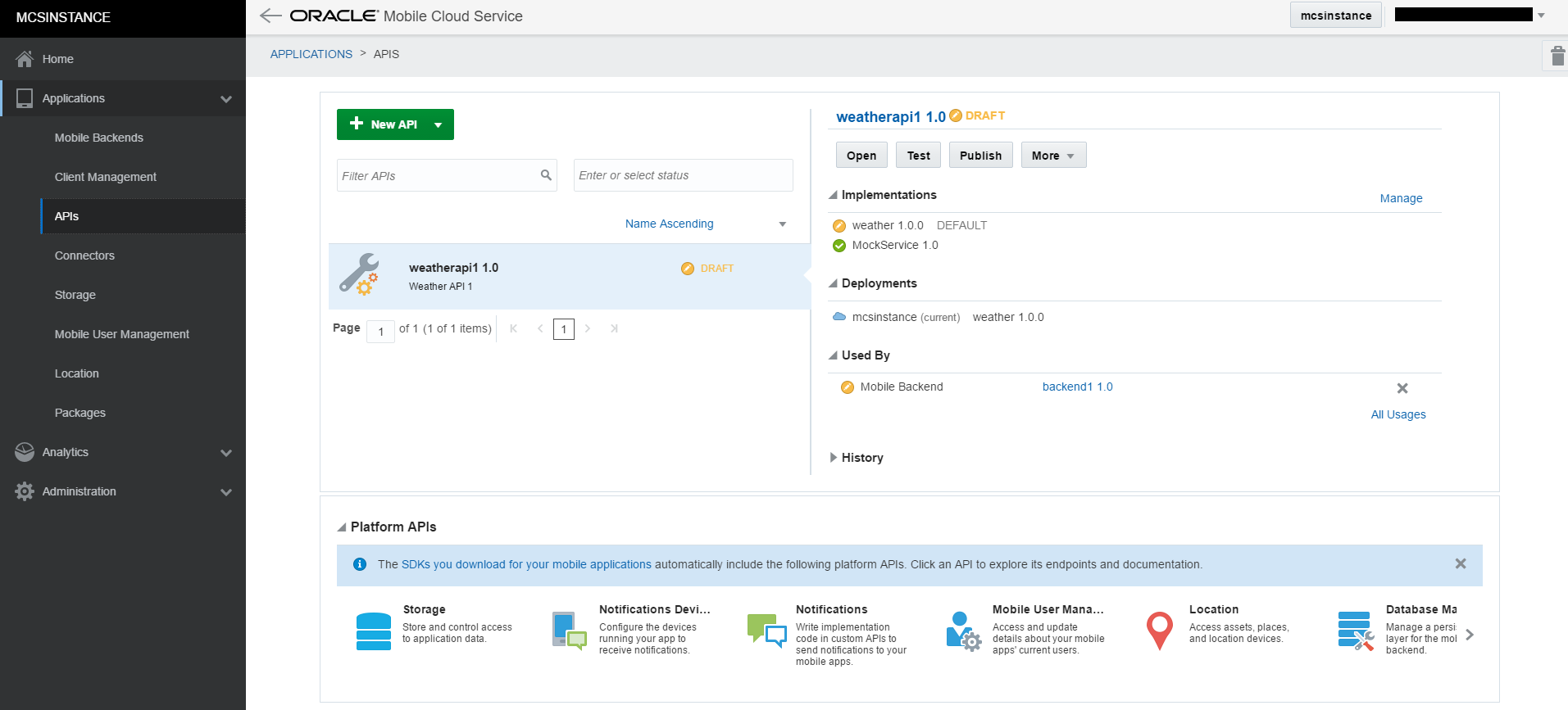 Oracle Mobile Cloud Service (MCS)  Implementing custom APIs using