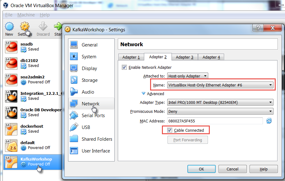 Network access to Ubuntu Virtual Box VM from host laptop