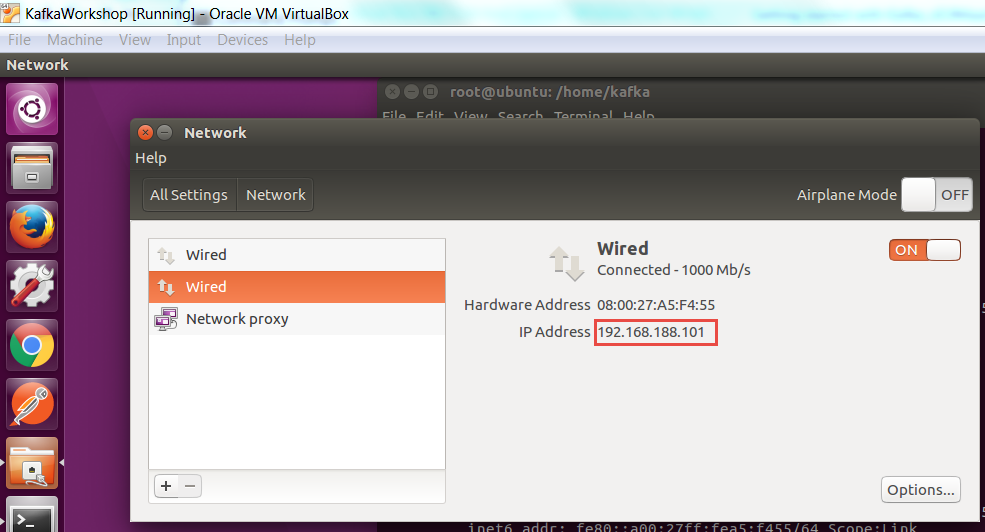 Network access to Ubuntu Virtual Box VM from host laptop - AMIS