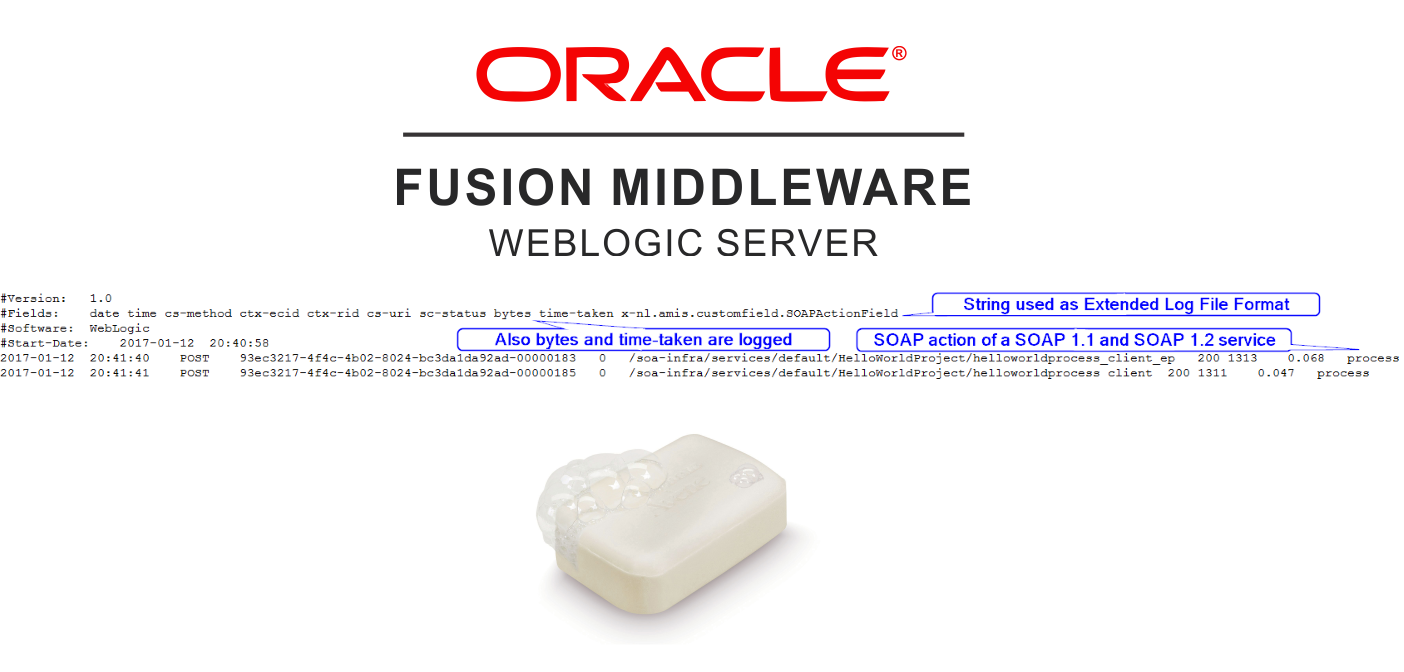WebLogic Server: Logging the SOAP action in the access.log