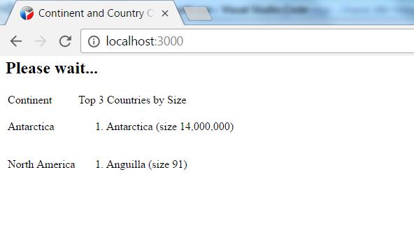 Node js application using SSE (Server Sent Events) to push updates