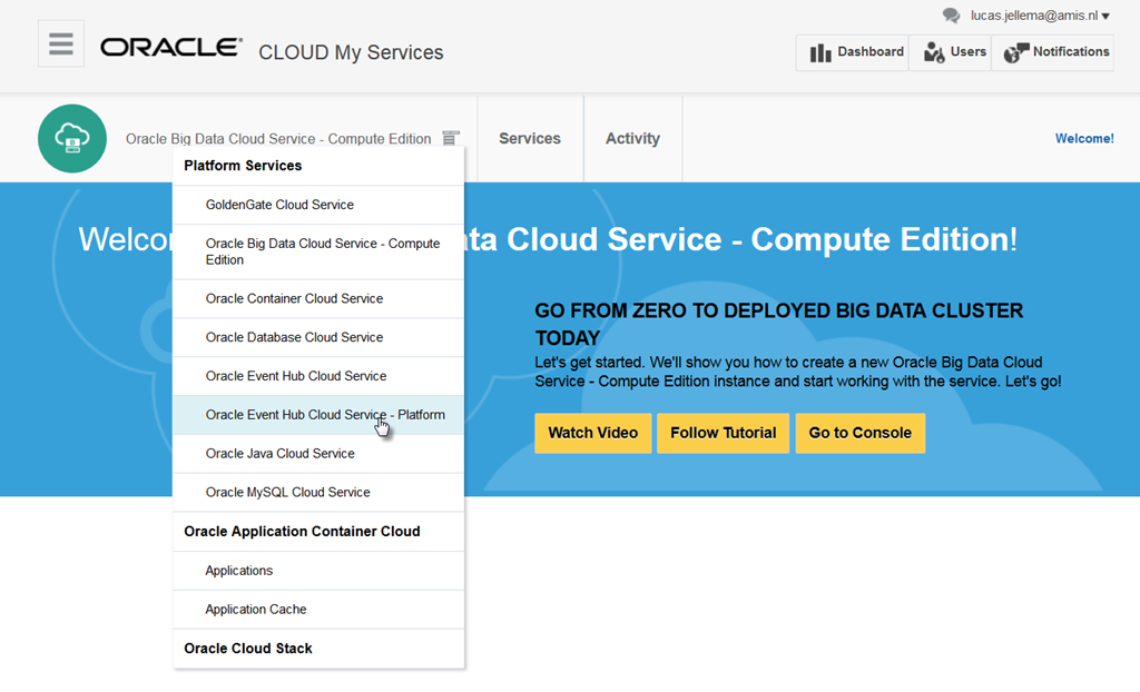 Apache Kafka on the Oracle Cloud: My First experiences with Oracle Event Hub Cloud Service