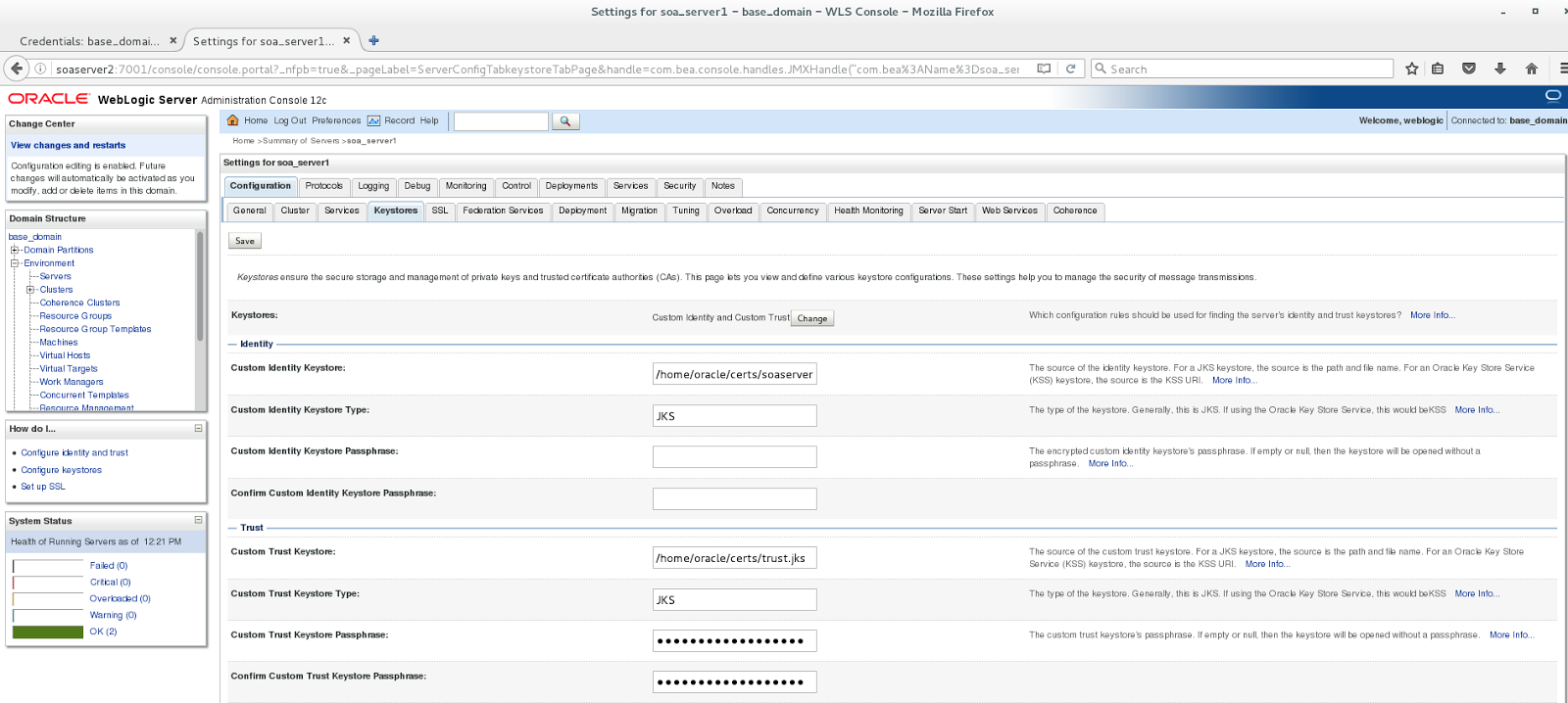 Oracle SOA Suite: Two-way SSL with TLS1 2 made easy (slightly less