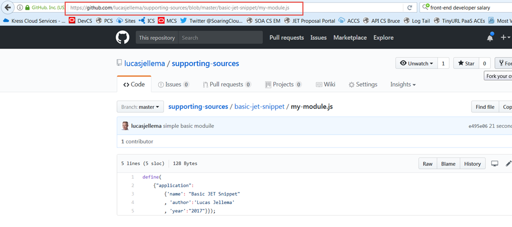 Creating JSFiddle for Oracle JET snippet - using additional modules