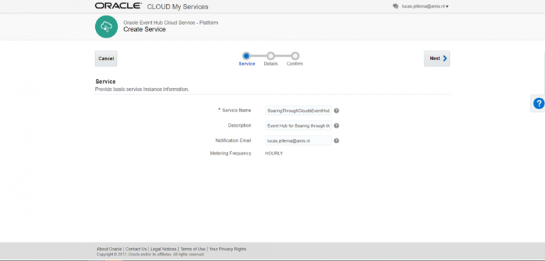 Setting up Oracle Event Hub (Apache Kafka) Cloud Service and Pub & Sub from local Node Kafka client