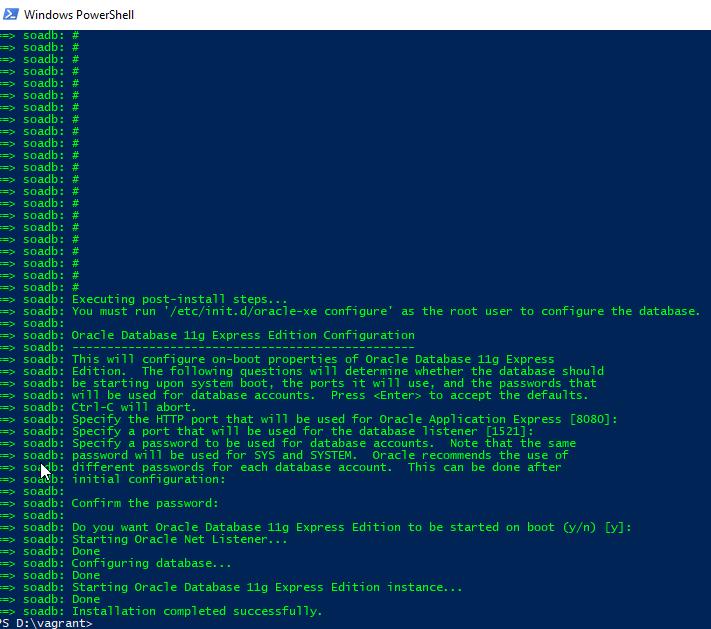 Quickly create a Virtualbox development VM with XE DB using