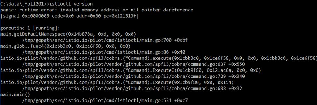 First steps with Istio on Kubernetes on Minikube on Windows