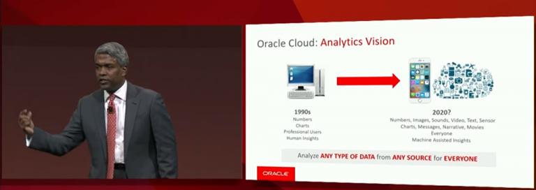 Some impressions from Oracle Analytics Cloud–taken from keynote at Oracle OpenWorld 2017