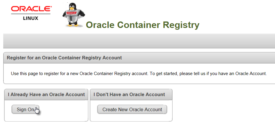 Quick introduction to Oracle Container Registry–running one