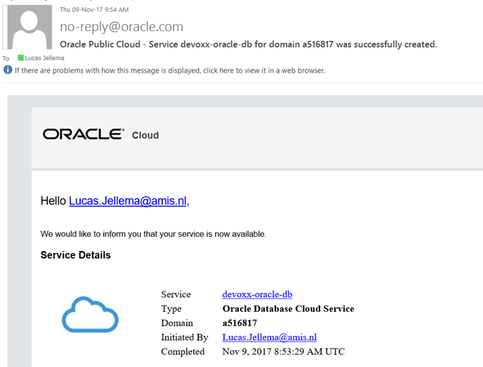 Prepare and link bind Oracle Database Cloud, Application Container