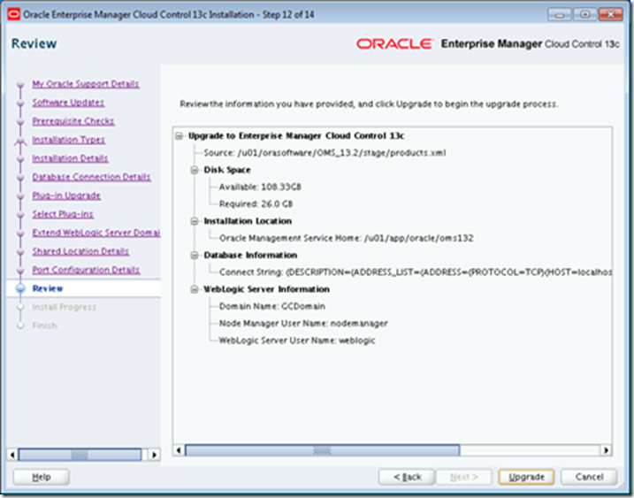 Upgrade OEM 12 1 0 5 OMS to OEM13 2 - AMIS Oracle and Java Blog