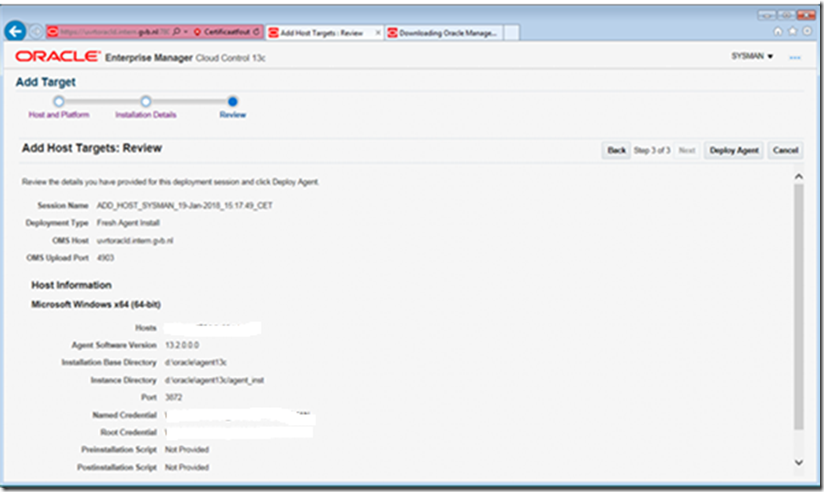 Deploying Oracle OEM agents 13c on windows targets (2008 R2