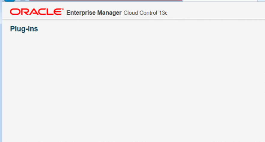 The curious case of the blank plugin page in OEM13c - AMIS Oracle