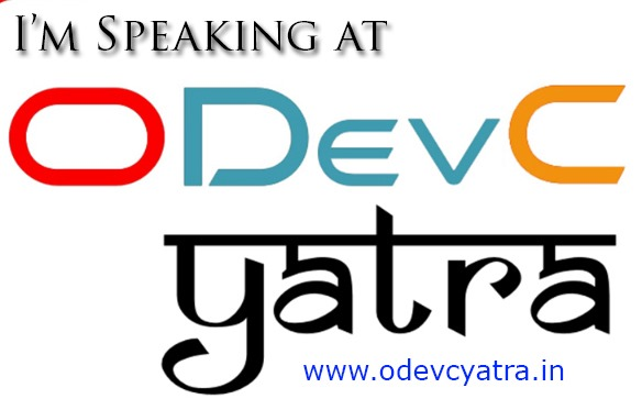 Presenting at ODevCYatra 2018 in Hyderabad, Pune and Mumbai (11, 13 and 14 July)