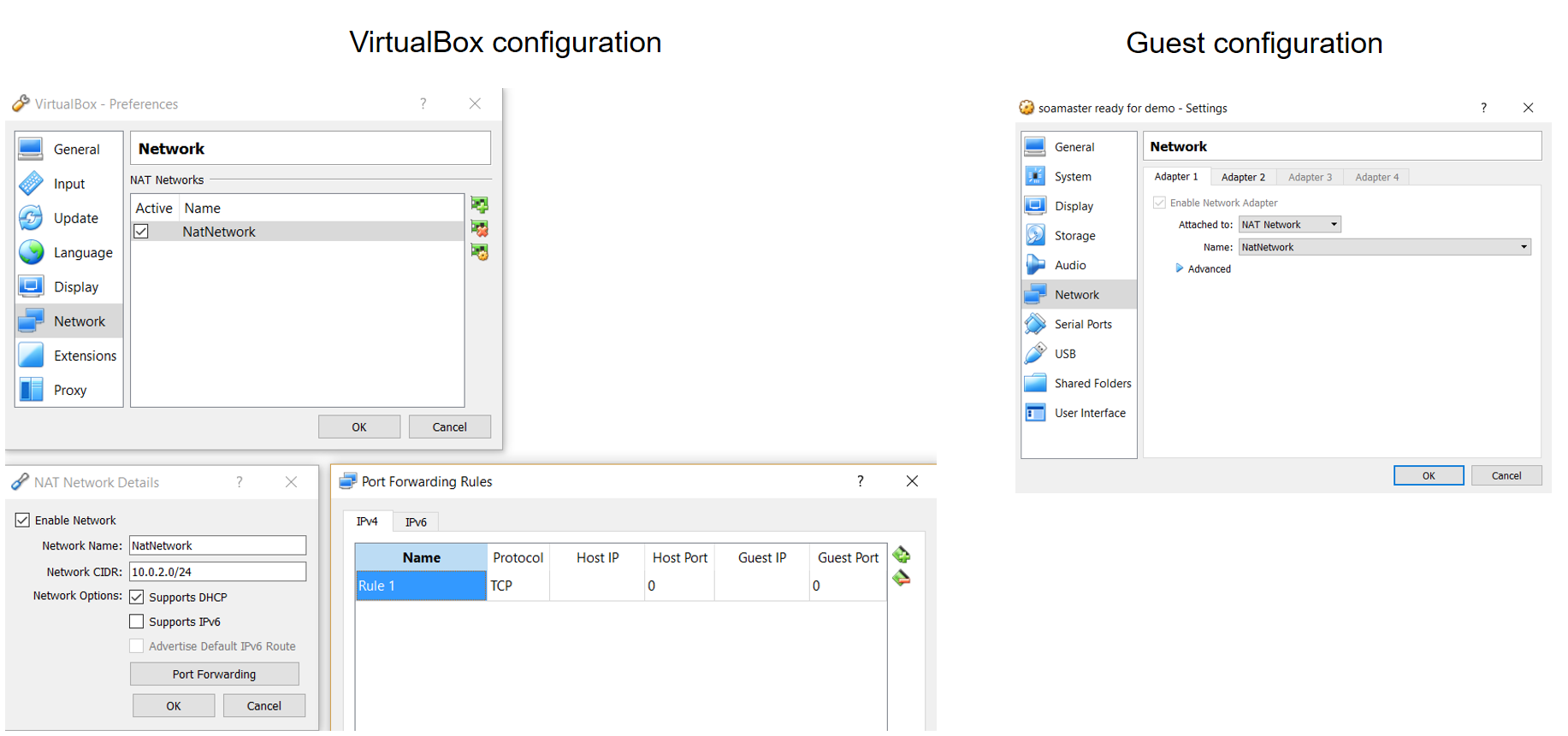 virtualbox network types