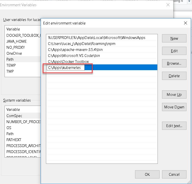 Running Kubernetes 1 10 using MiniKube on Windows 10 (adding