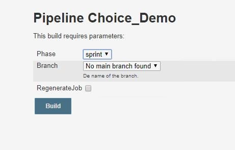 Jenkins 2 0 pipeline: Scripting active parameters for SCM