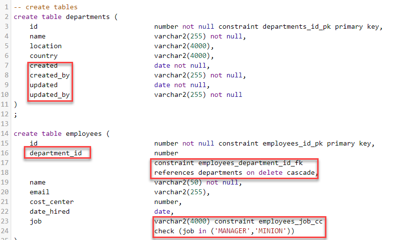 Rapid generation of Oracle DDL scripts for Tables, PL/SQL