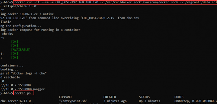 Quick Start with Eclipse Che - Browser based IDE, running on Docker