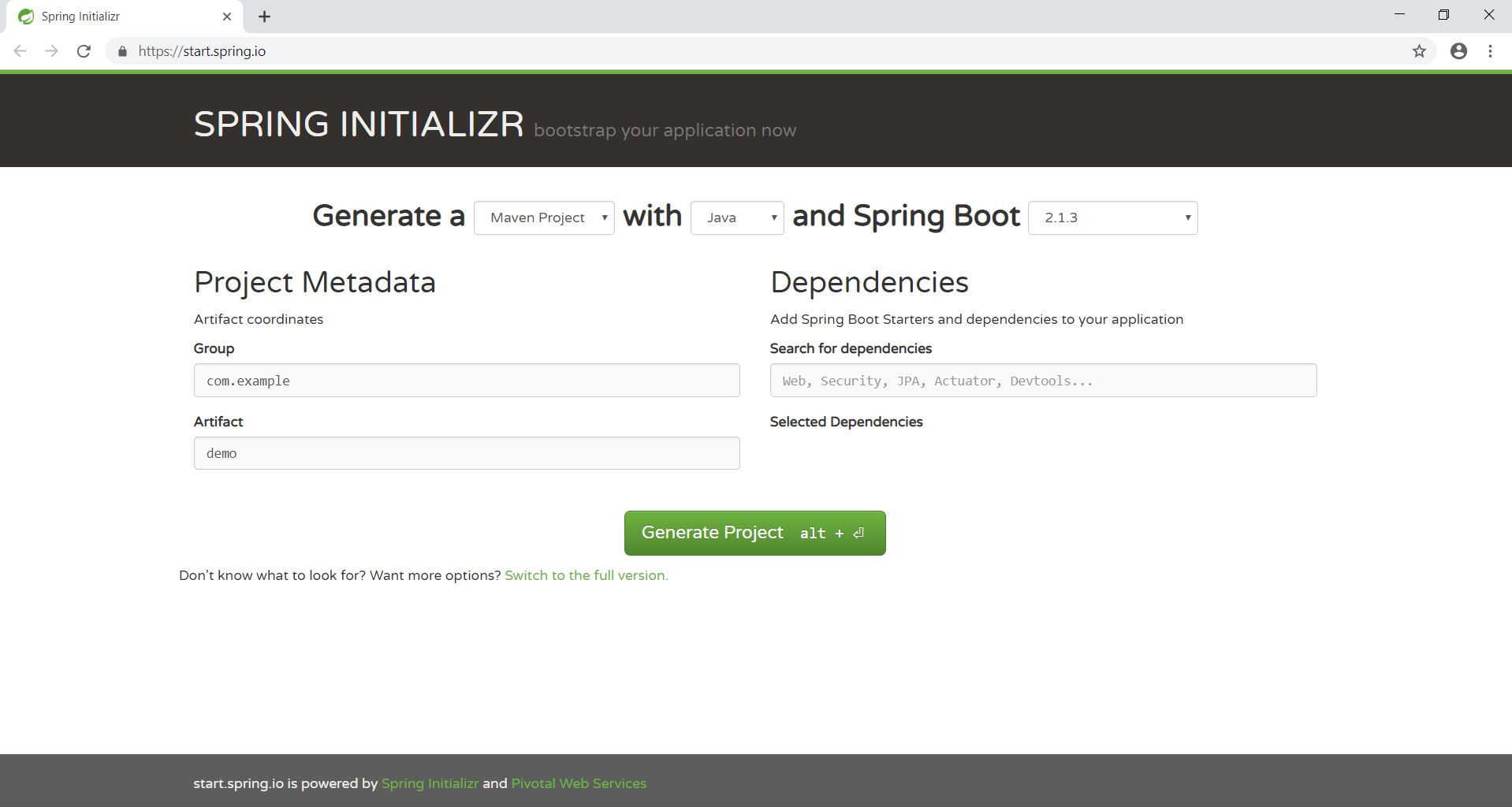 Building a RESTful Web Service with Spring Boot using an H2